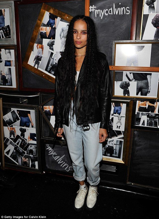 Zoe Kravitz Flashes Her Toned Abs In Tiny Calvin Klein