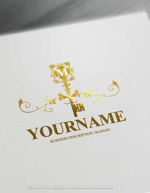 Free logo maker vintage key logo design templates logo for Design online