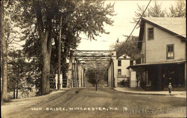 Iron Bridge Winchester New Hampshire Photo Postcards