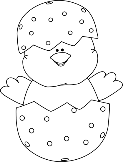 Free Easter Clip Art Black And White Black And White Chick Inside