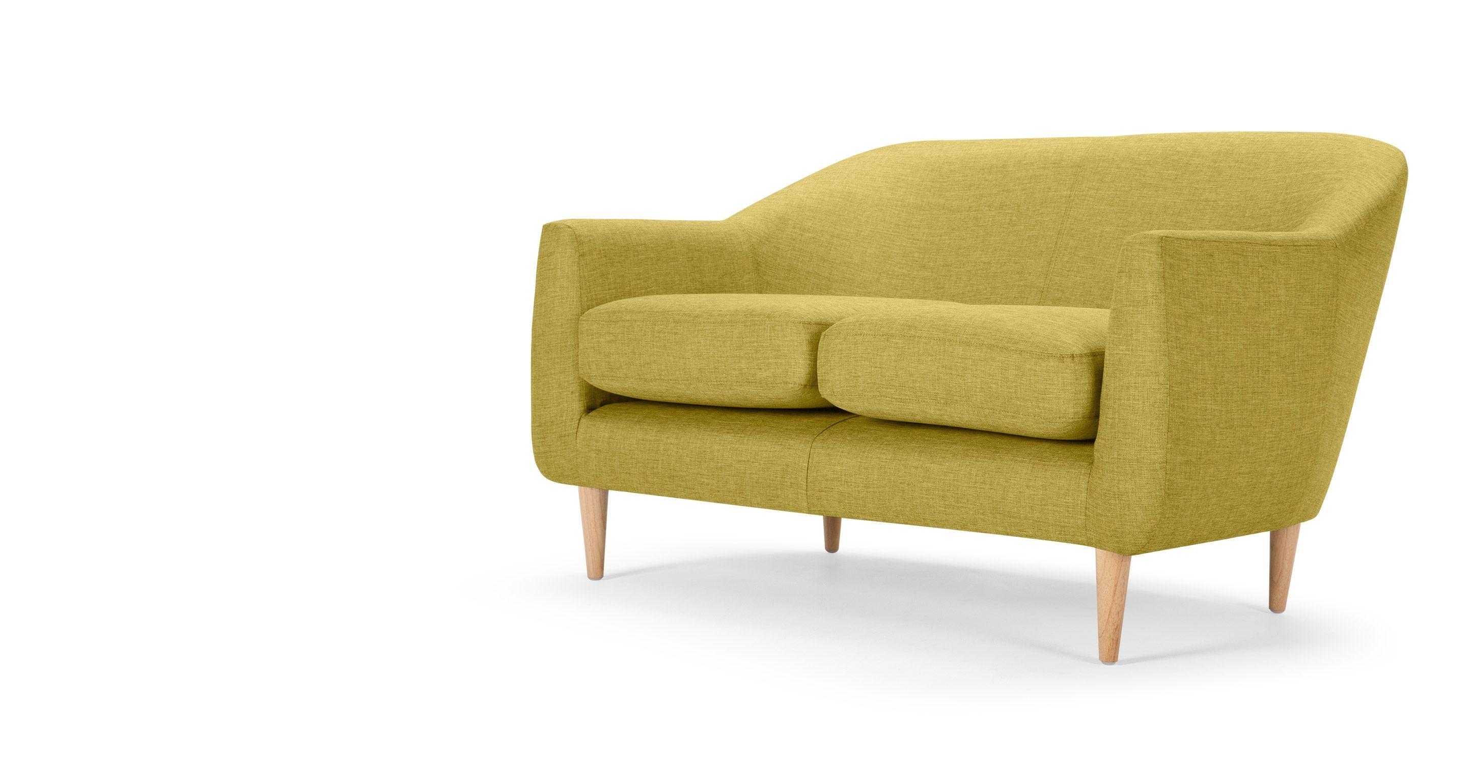 Extravagant Modern Minimalist Yellow Sofas Wooden Style Frame With