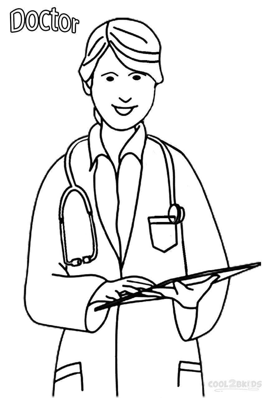 kid doctor coloring pages - photo#32