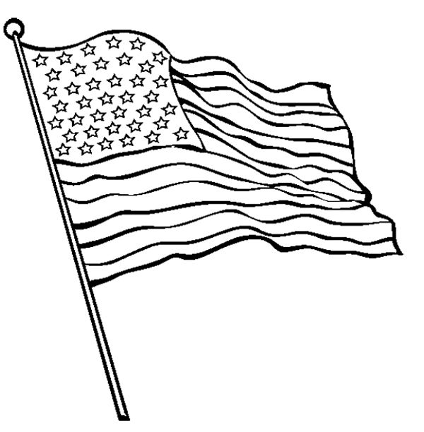 The Betsy Ross Flag On Stitching Up Coloring Page Flag Coloring