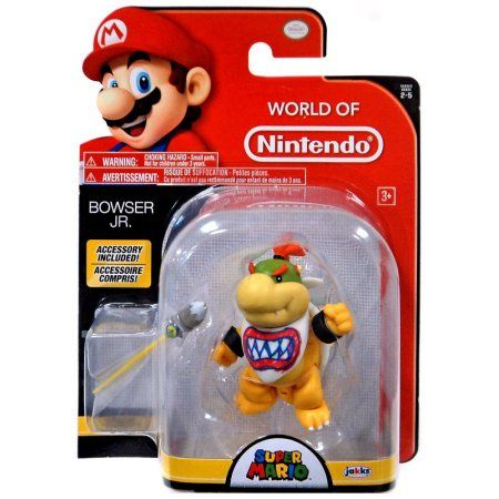 World Of Nintendo Bowser Jr With Paint Brush Action Figure