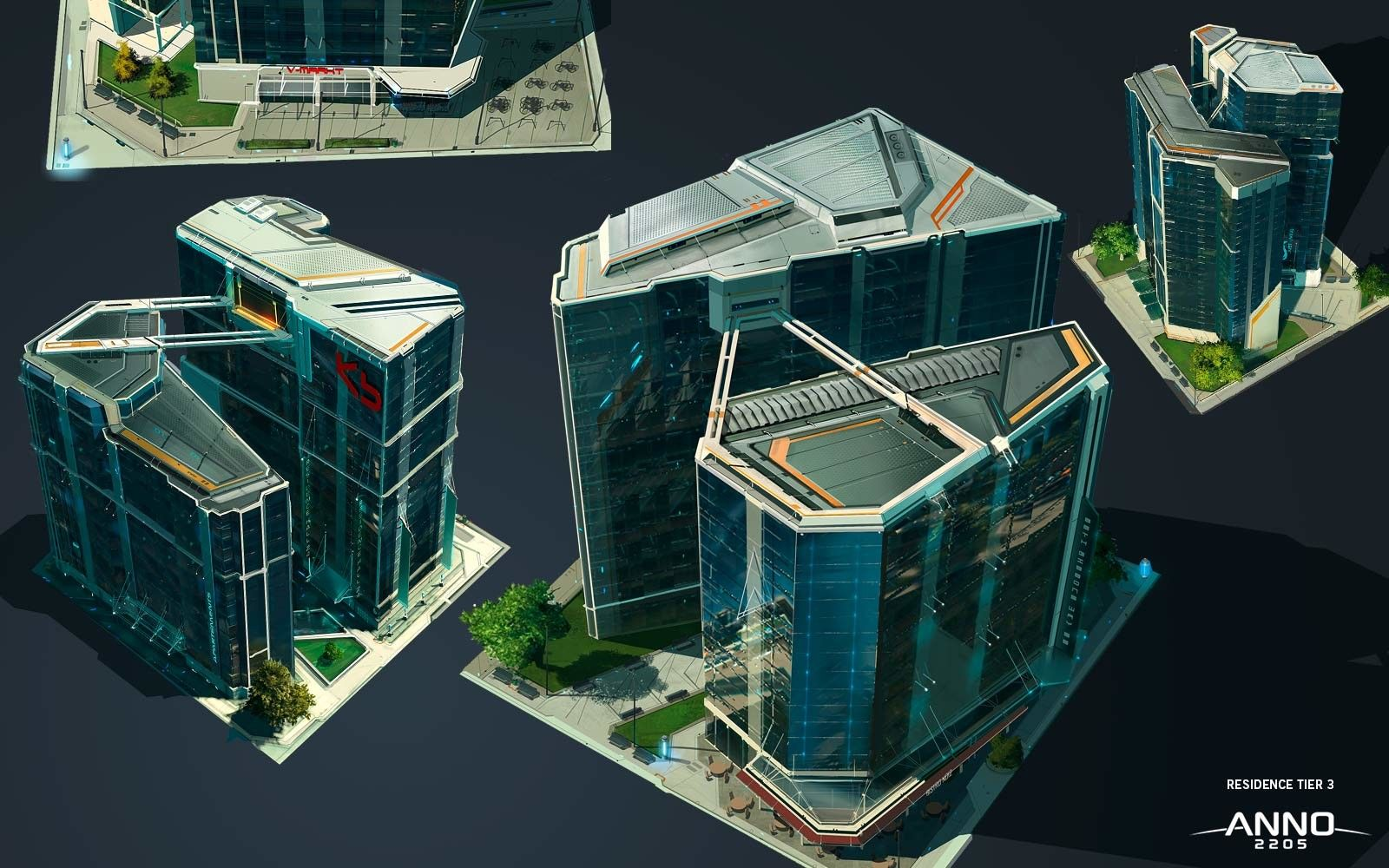 Anno 2205 residence building s ren meding on artstation for Concept building