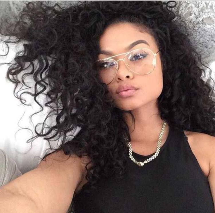 Clear Aviator Glasses From The Blaque List Curly Hair Styles Weave Hairstyles Hair