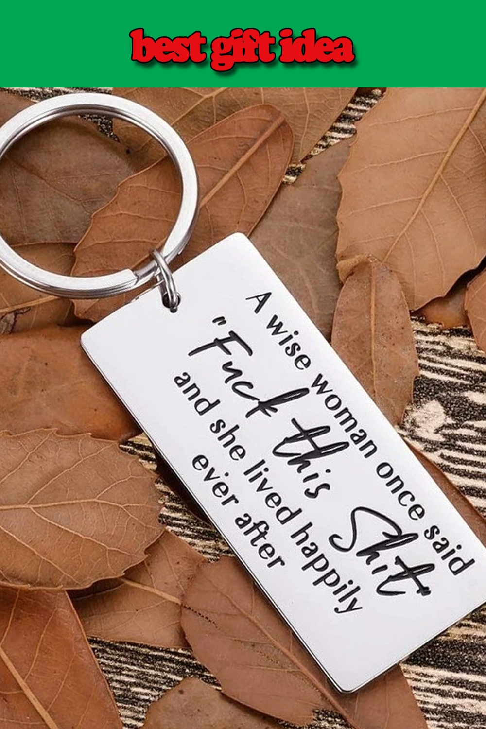 Funny Encouragement Women Keychain Gifts for Women ,Wife ...