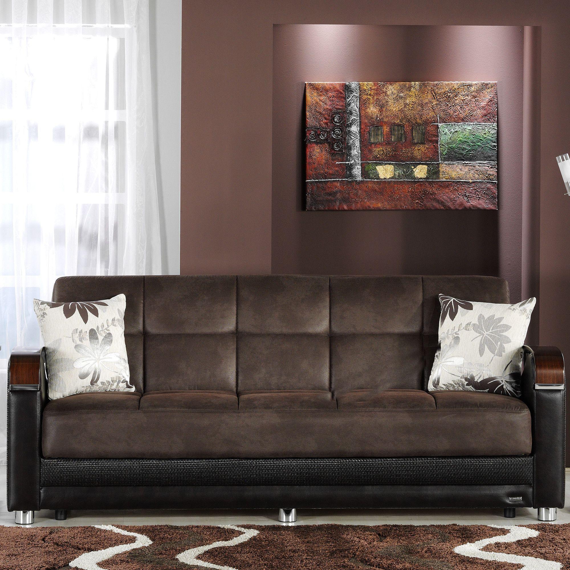 3 Sitzer Baracca 220x95 Braun Antik Optik Bauhausstil Sofa