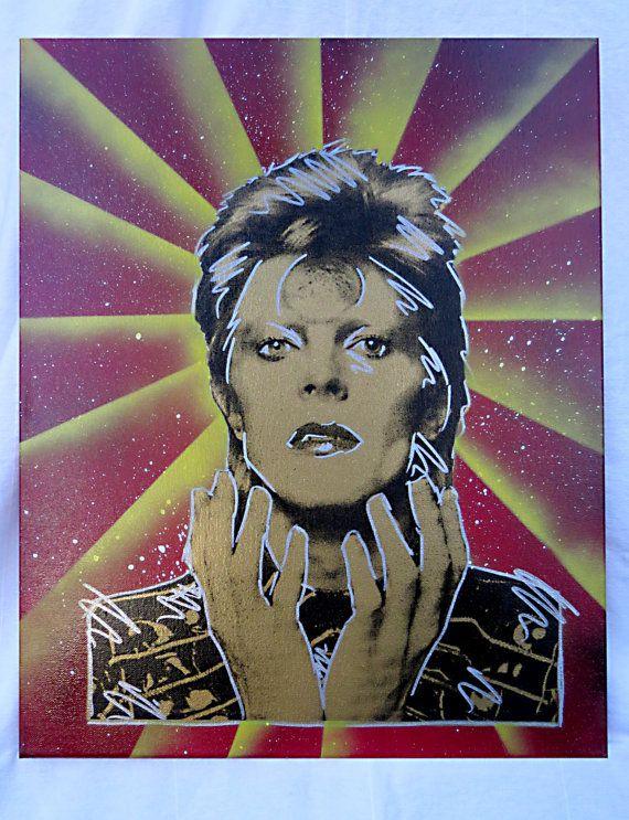 David Bowie 16x20 serigrafati Wall Art