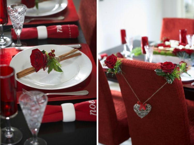 Fur Die Tischdeko Rote Rosen Und Zimt Kombinieren Valentine S