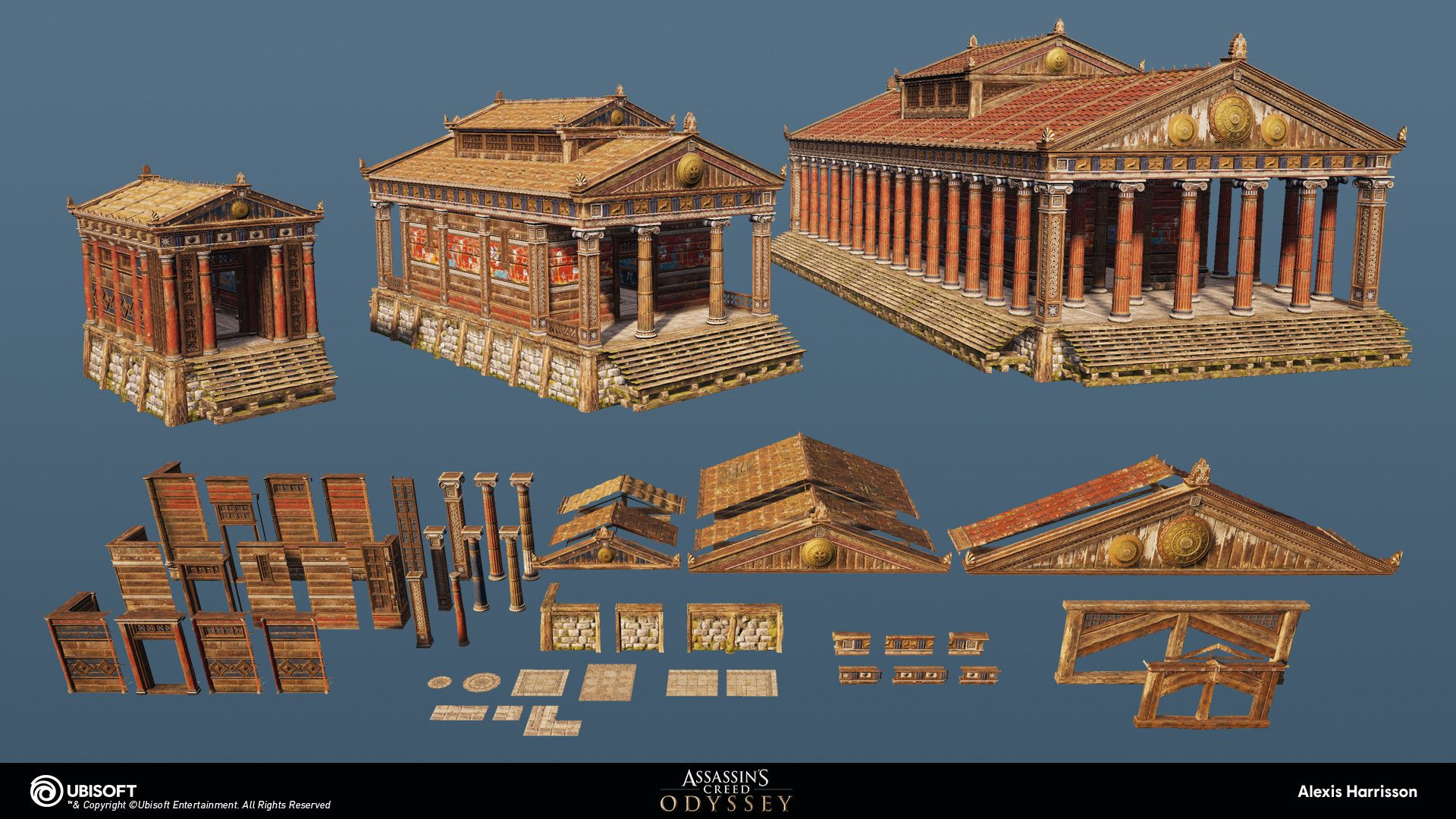 Artstation Assassin S Creed Odyssey Wood Temples Alexis