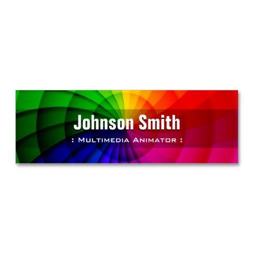 Multimedia animator radial rainbow colors business card templates multimedia animator radial rainbow colors business card templates reheart Choice Image