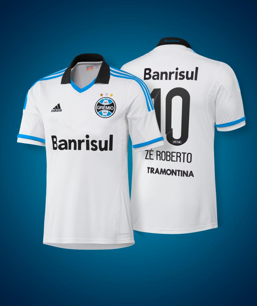 d6aa24c50c Passa-tempo. Como seria a camisa branca do Grêmio com patrocínio da ...
