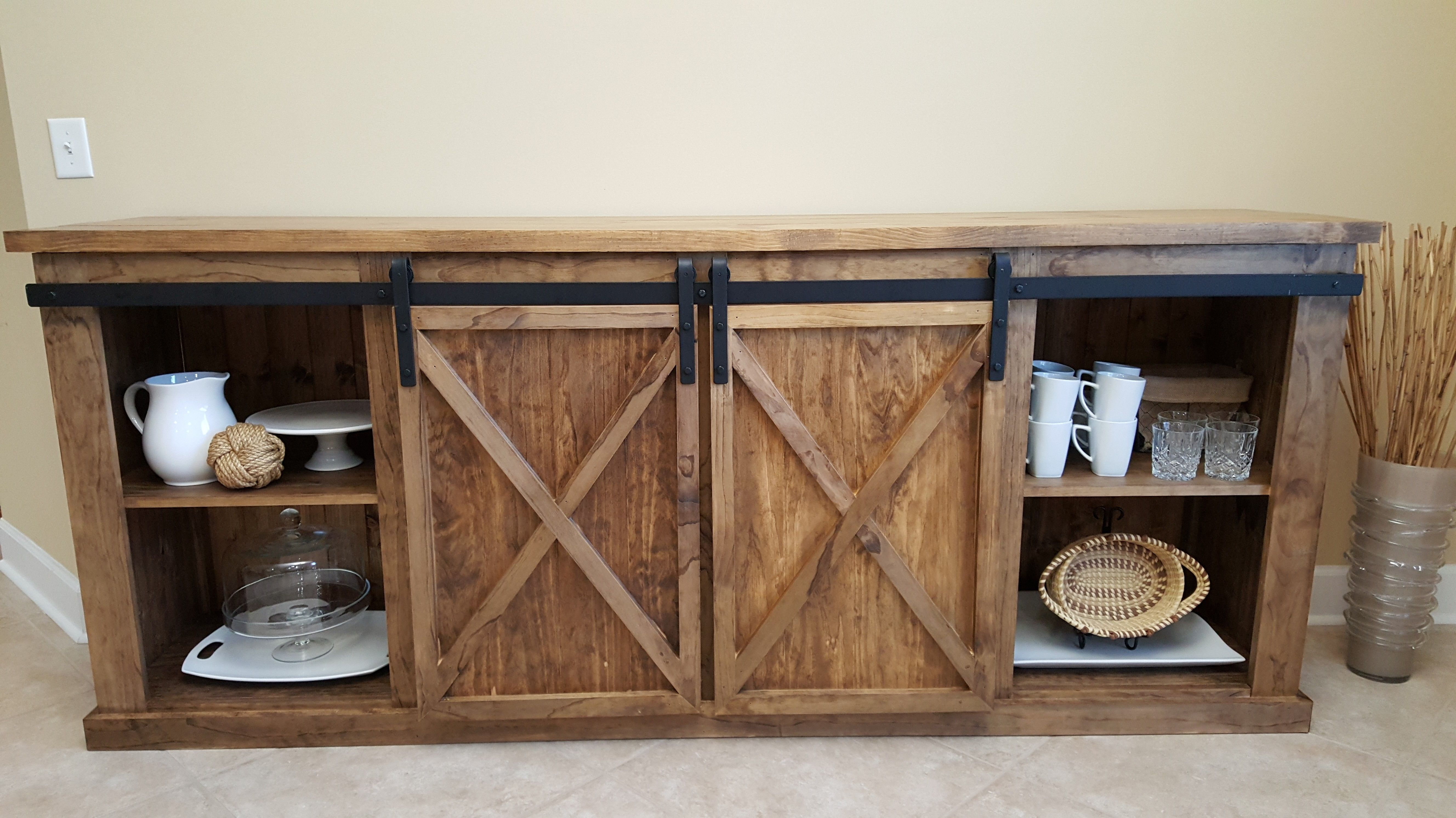 Barn Door Console Do It Yourself Home Projects From Ana White  # Muebles Do It Yourself