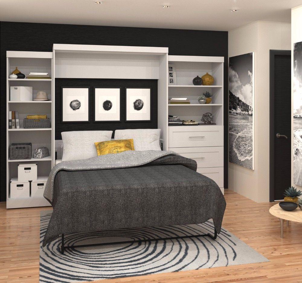 Best Pur By Bestar 126 Queen Wall Bed Kit In White Bestar 640 x 480
