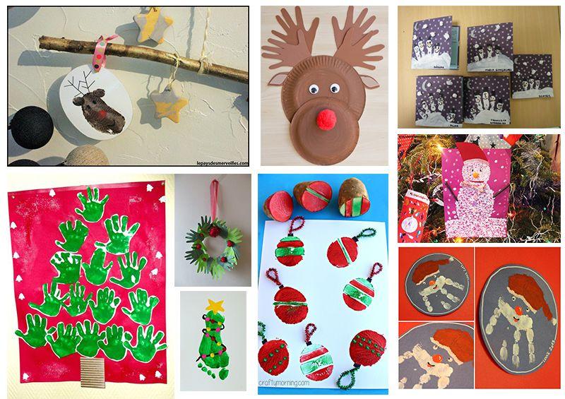 Délicieux Bricolage Enfant Pinterest #13: Bricolage Noel Empreinte Enfant