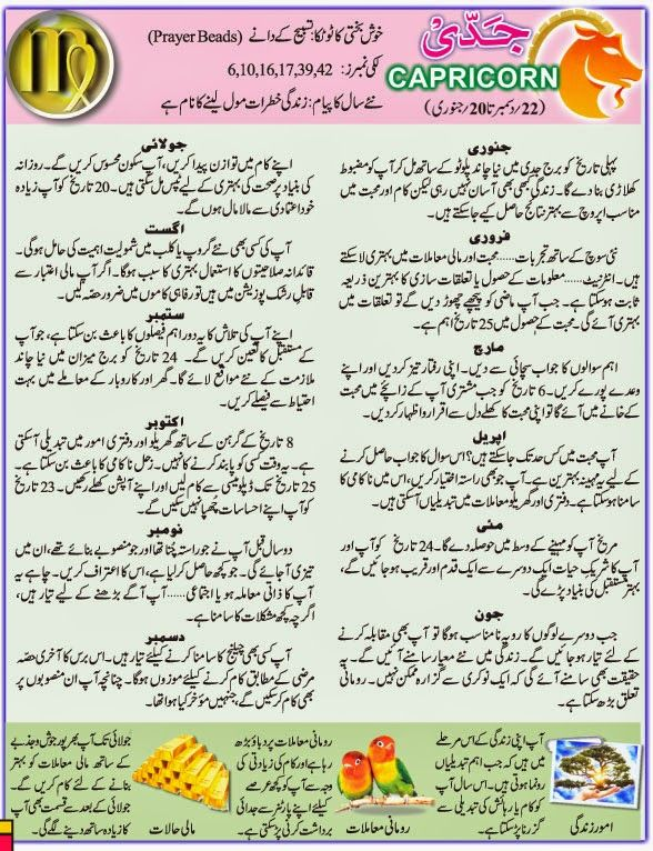 capricorn love horoscope today in urdu