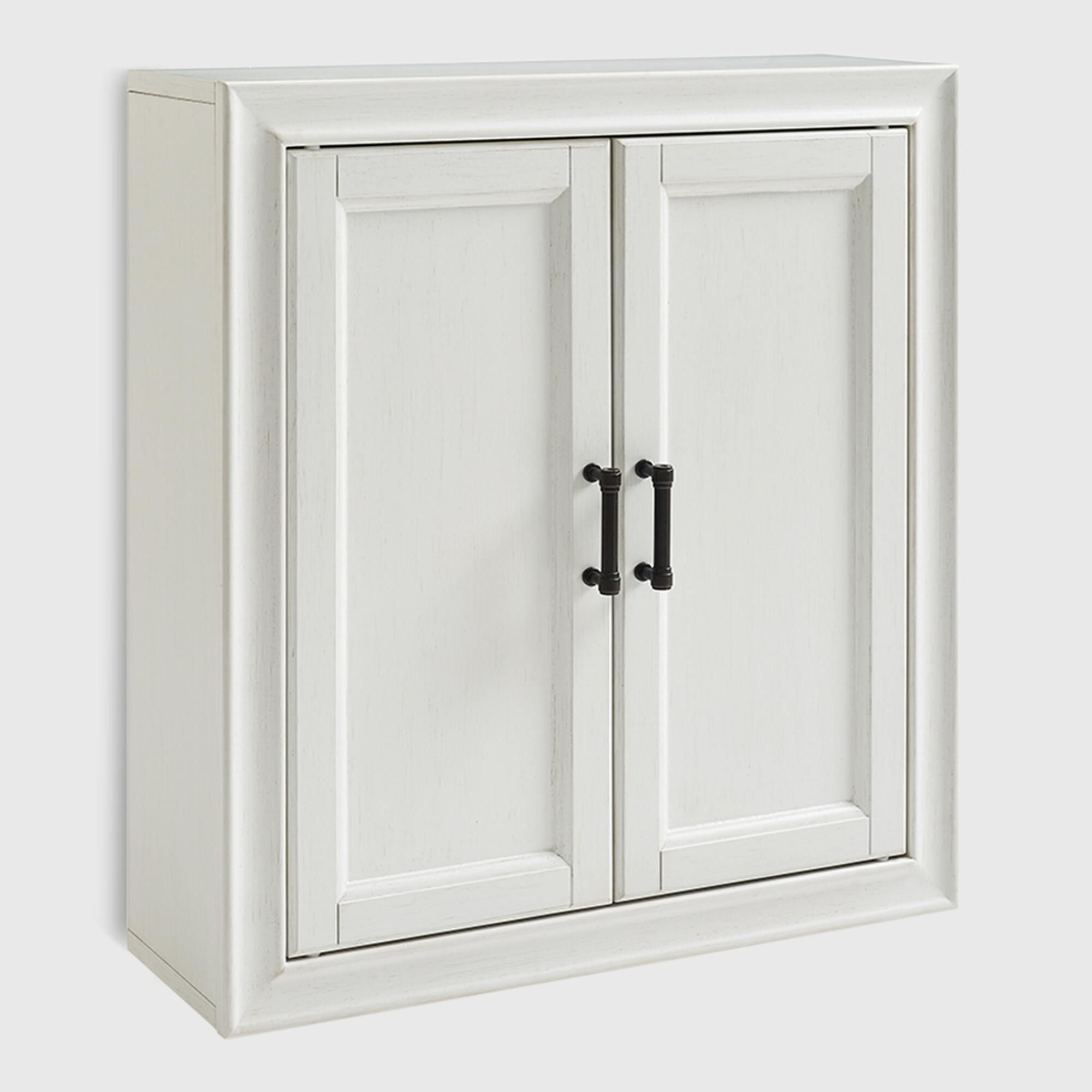 White Wood Oden Bathroom Wall Cabinet By World Market Bathroom