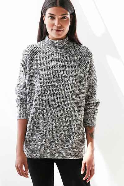 358c2bd85e4 BDG Waffle-Knit Turtleneck Sweater - Urban Outfitters