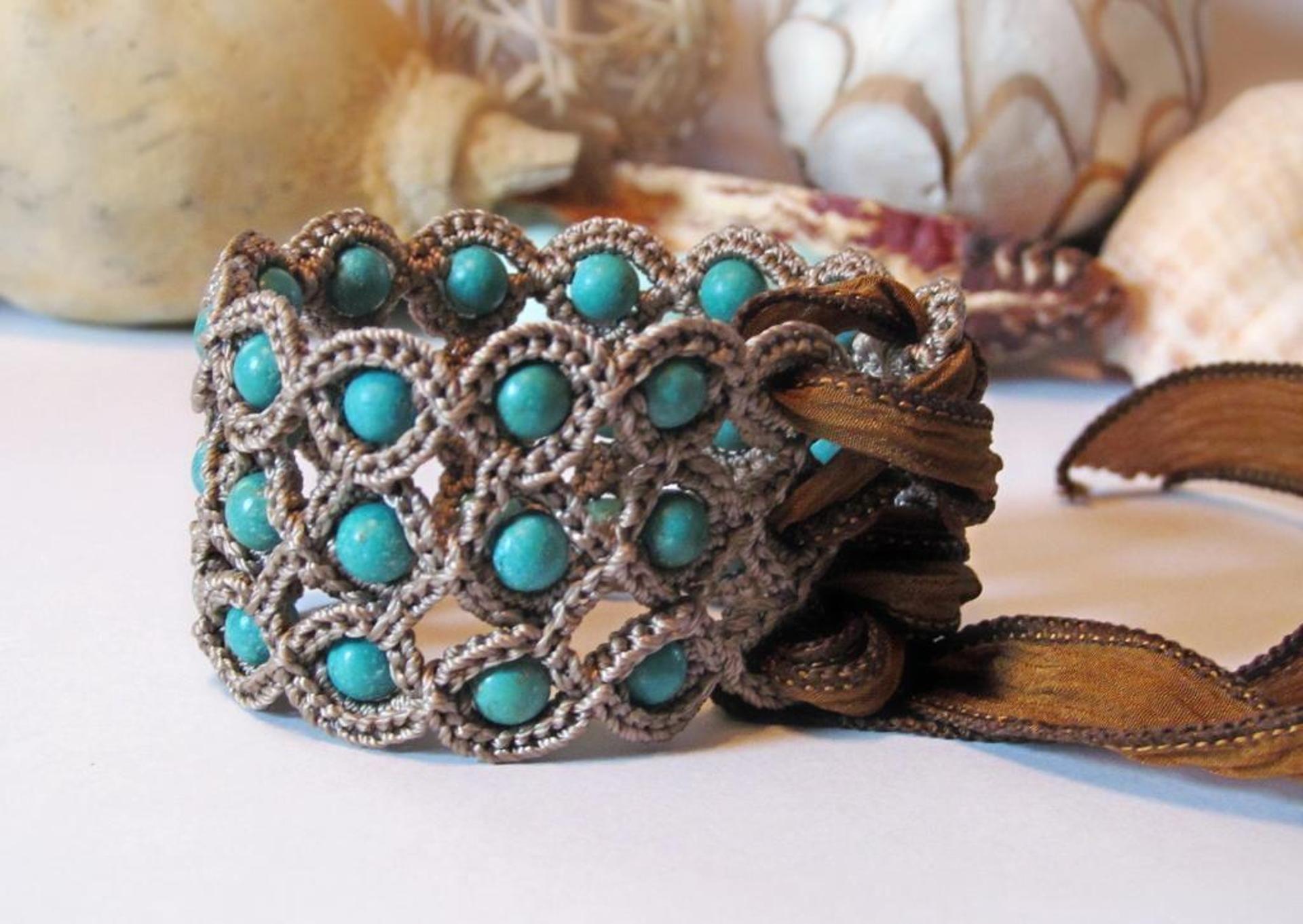 Corset Cuff Crochet Bracelet | Craftsy | Crochet Jewelry | Pinterest ...