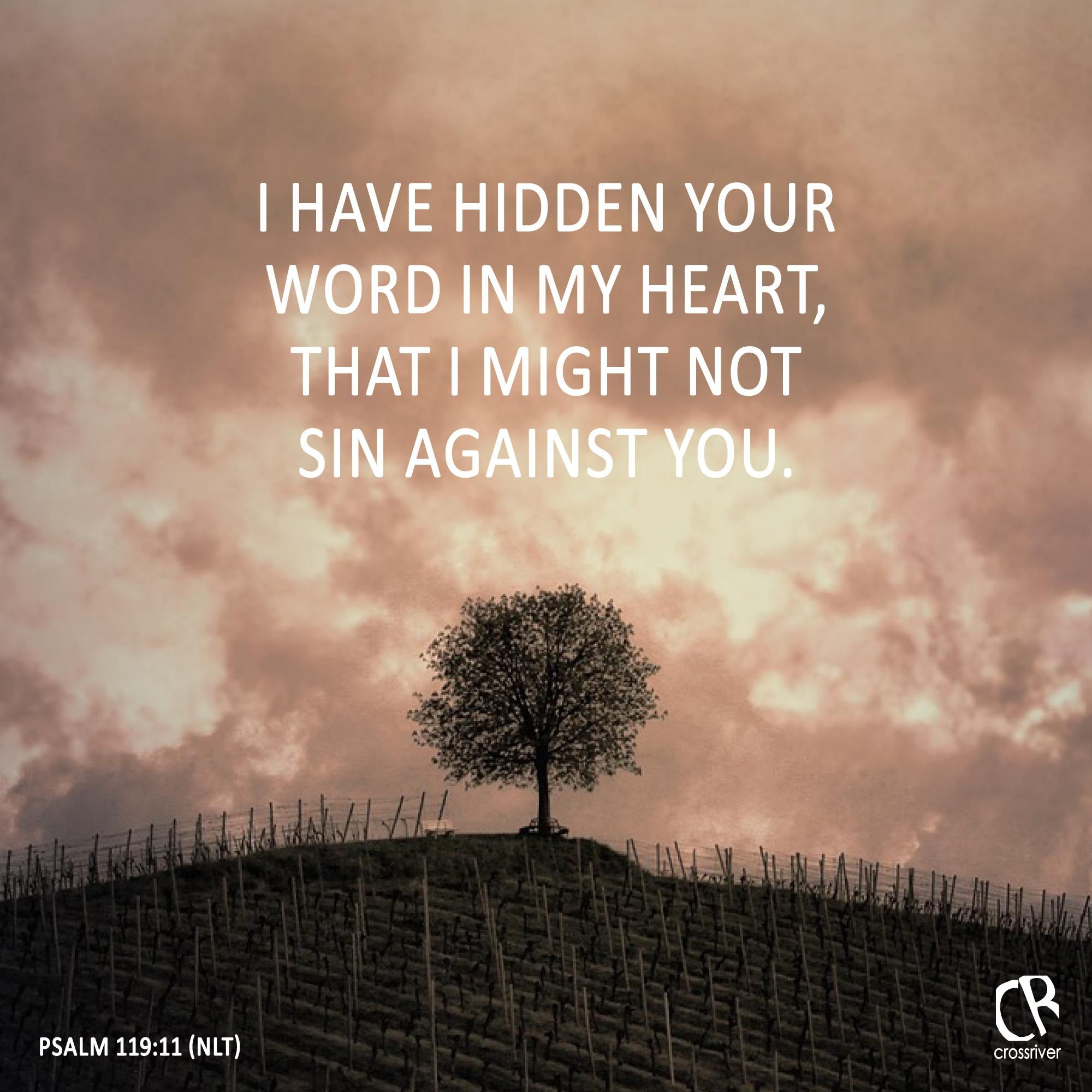 I have hidden your word in my heart, that I might not sin against