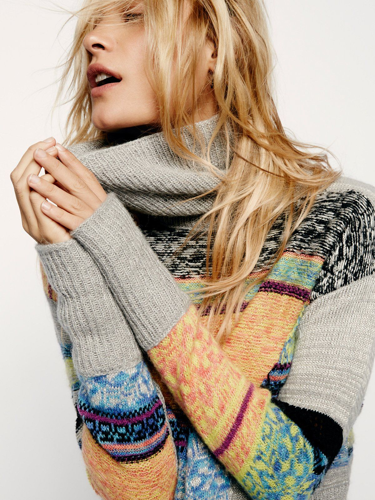 This And That Stripe Sweater | Comfy, cozy sweater featuring a drapey turtleneck and an easy fit. Pretty striped patterns perfect for the season strewn throughout.