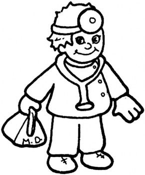 Doctor Carrying Equipment Bags Coloring Pages Who Printables