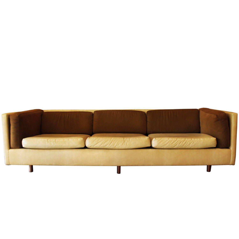 Best Mid Century Modern Harvey Probber Suede Leather Brown 400 x 300