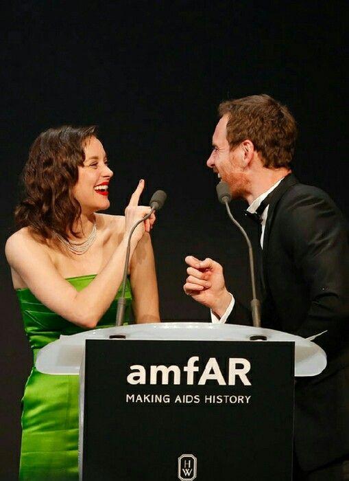 Marion Cotillard & Michael Fassbender at the amfAR charity gala