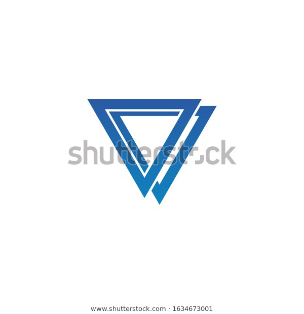 Abstract Triangle Logo Design Element Stock Vector Royalty Free 1634673001 In 2020 Triangle Logo Logo Design Design Element