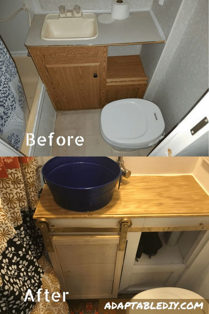 Rv Vanity Renovation Rv Bathroom Renovation Camper Bathroom Budget Bathroom Remodel Rv Bathroom