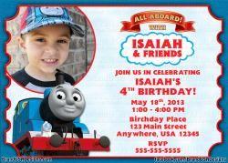 Thomas The Train Custom Birthday Invitation 10