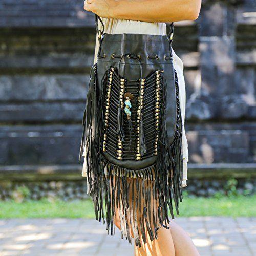 Genuine Black Leather Bag - Hobo/boho Style, http://www.amazon.com/dp/B00X1DZBAW/ref=cm_sw_r_pi_awdm_nAp9vb1JXAAZD