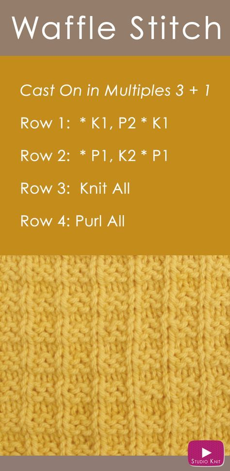 How to Knit the Waffle Stitch | Pinterest | Dos agujas, Tejido y ...