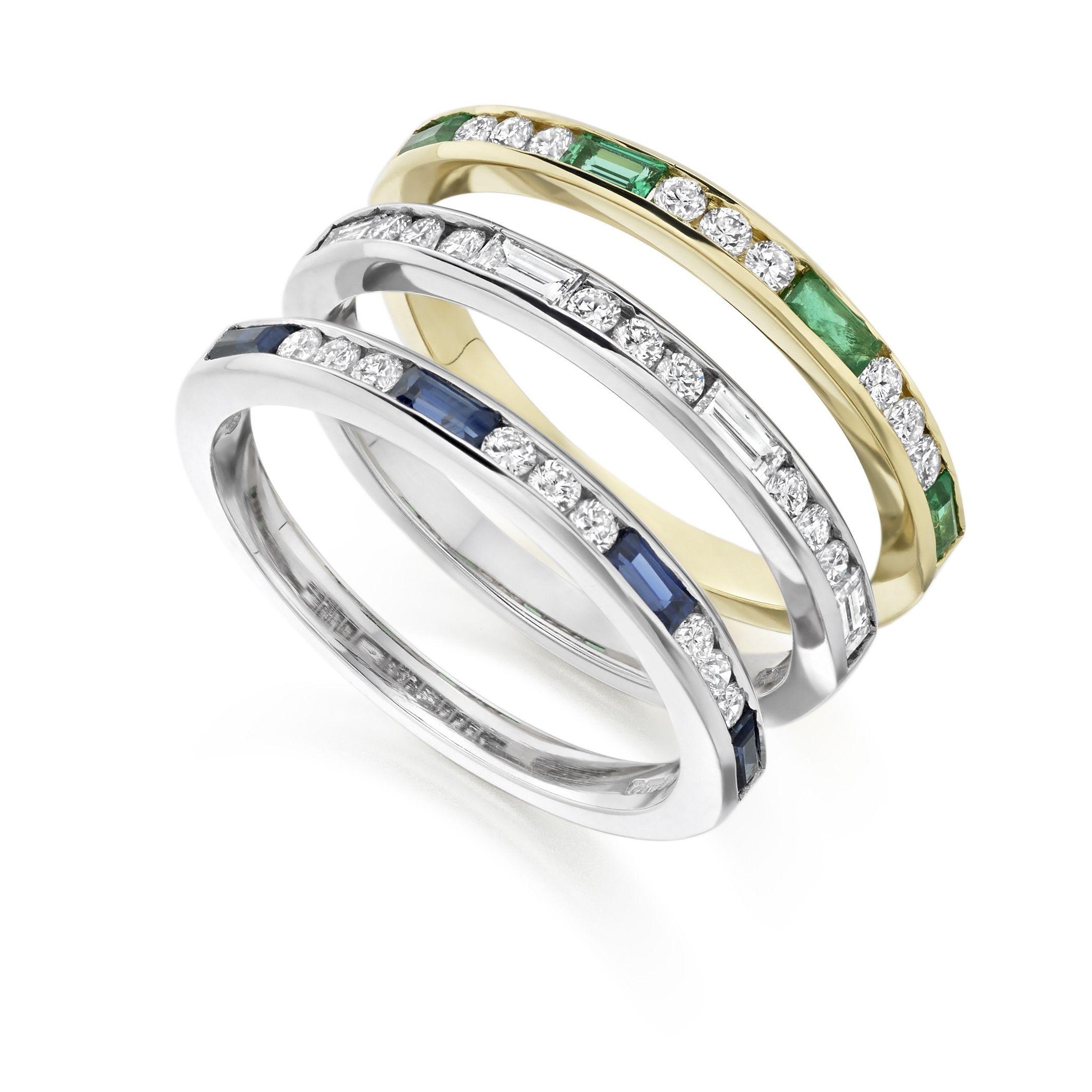 Unusual Diamond Eternity Rings