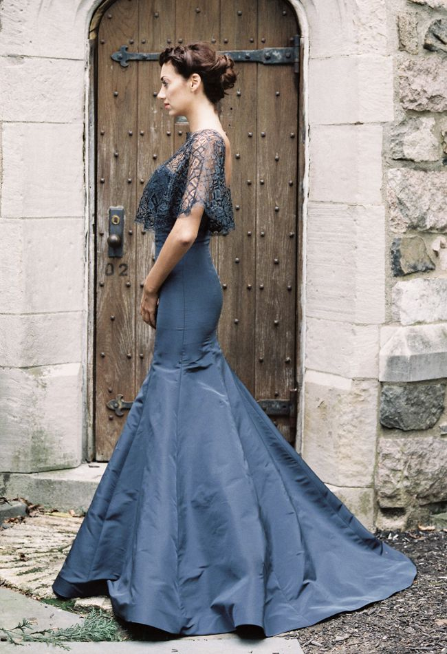Sareh Nouri Includes Black and Navy Wedding Dresses for Fall 2015 ...