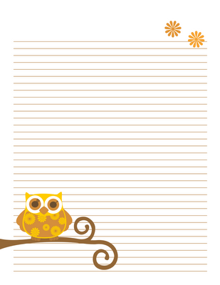 Nice Free Autumn Owl Notebook Pages {Tricia Rennea, Illustrator}