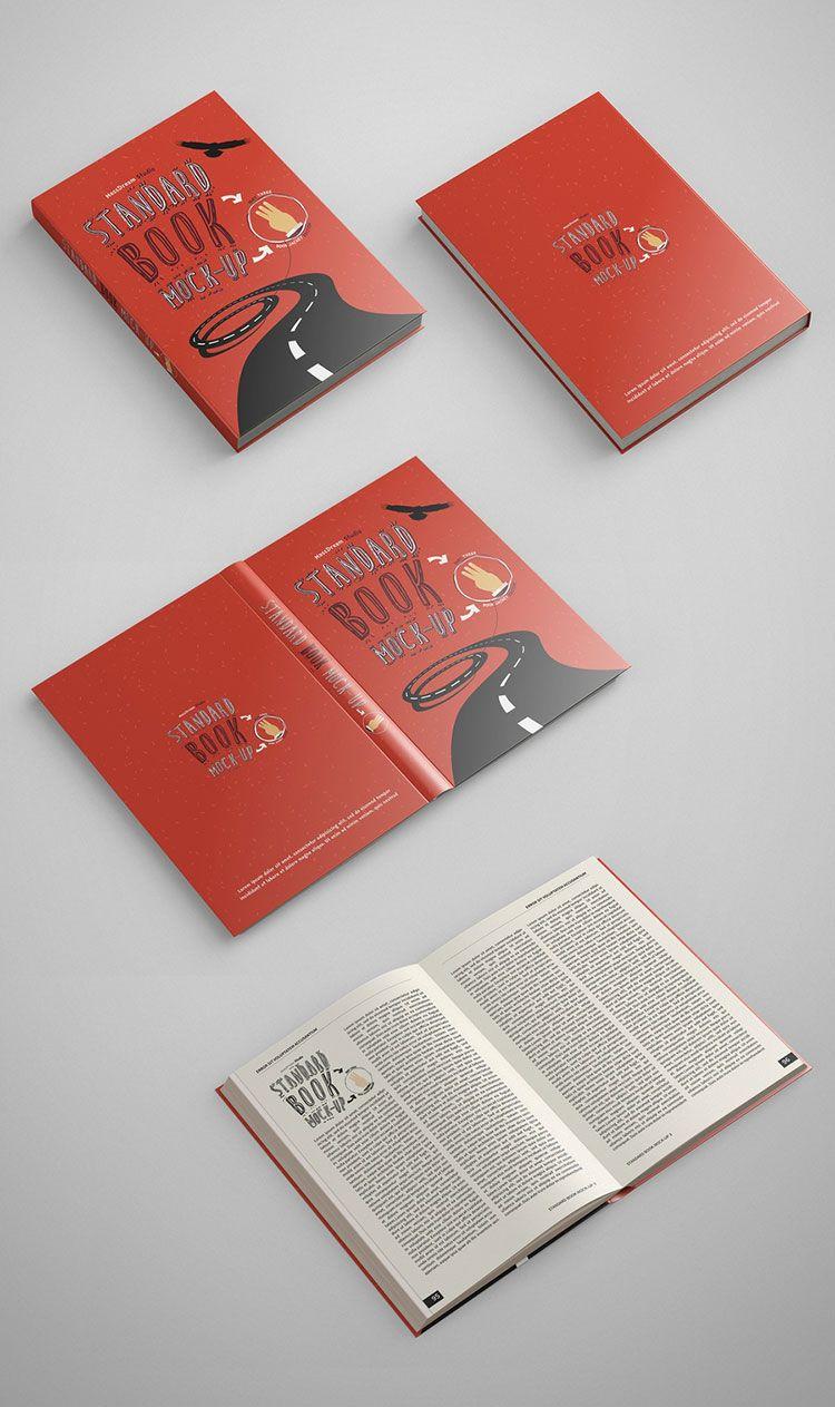 Standard Book Mockup PSD | Book Covers | Pinterest