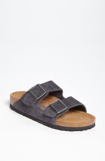 birkenstock arizona soft footbed velvet grey suede