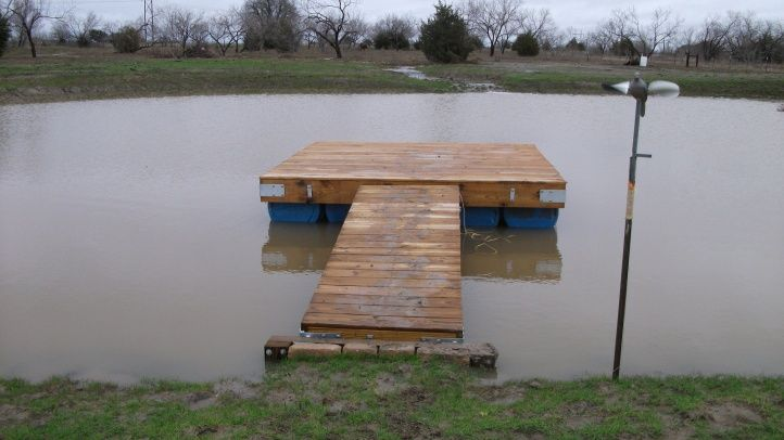 Building a floating dock building dock on pond need for Pond pier plans