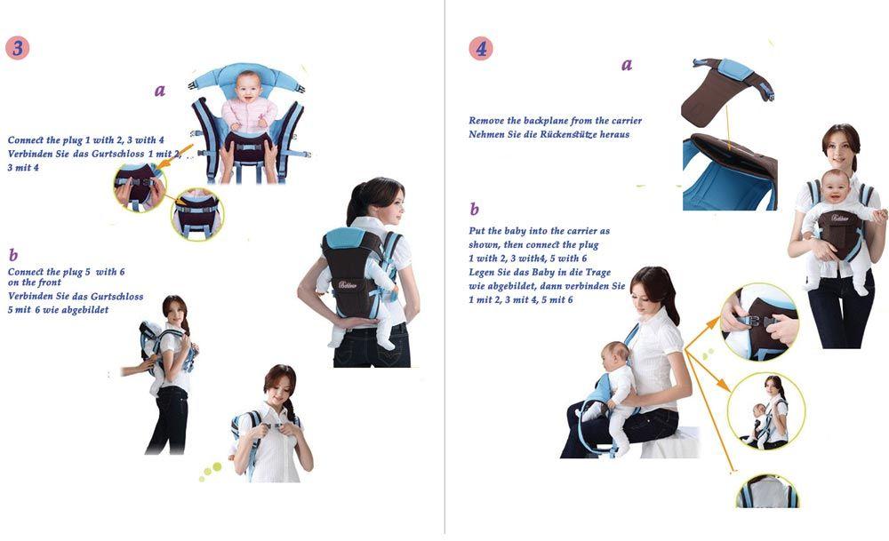 a6a9cbbe98da Bethbear Multifunctional Ventilate Adjustable Buckle Mesh Wrap Baby ...