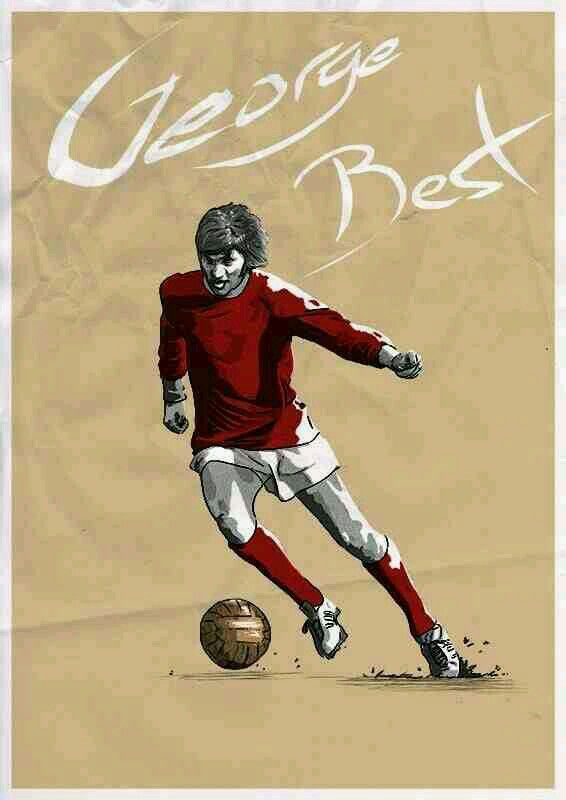 George Best Of Man Utd Wallpaper Olahraga Desain