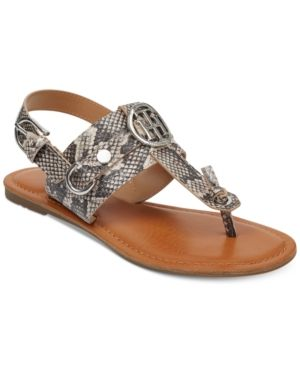 a477a2f10 TOMMY HILFIGER LUVEE FLAT SANDALS WOMEN S SHOES.  tommyhilfiger  shoes