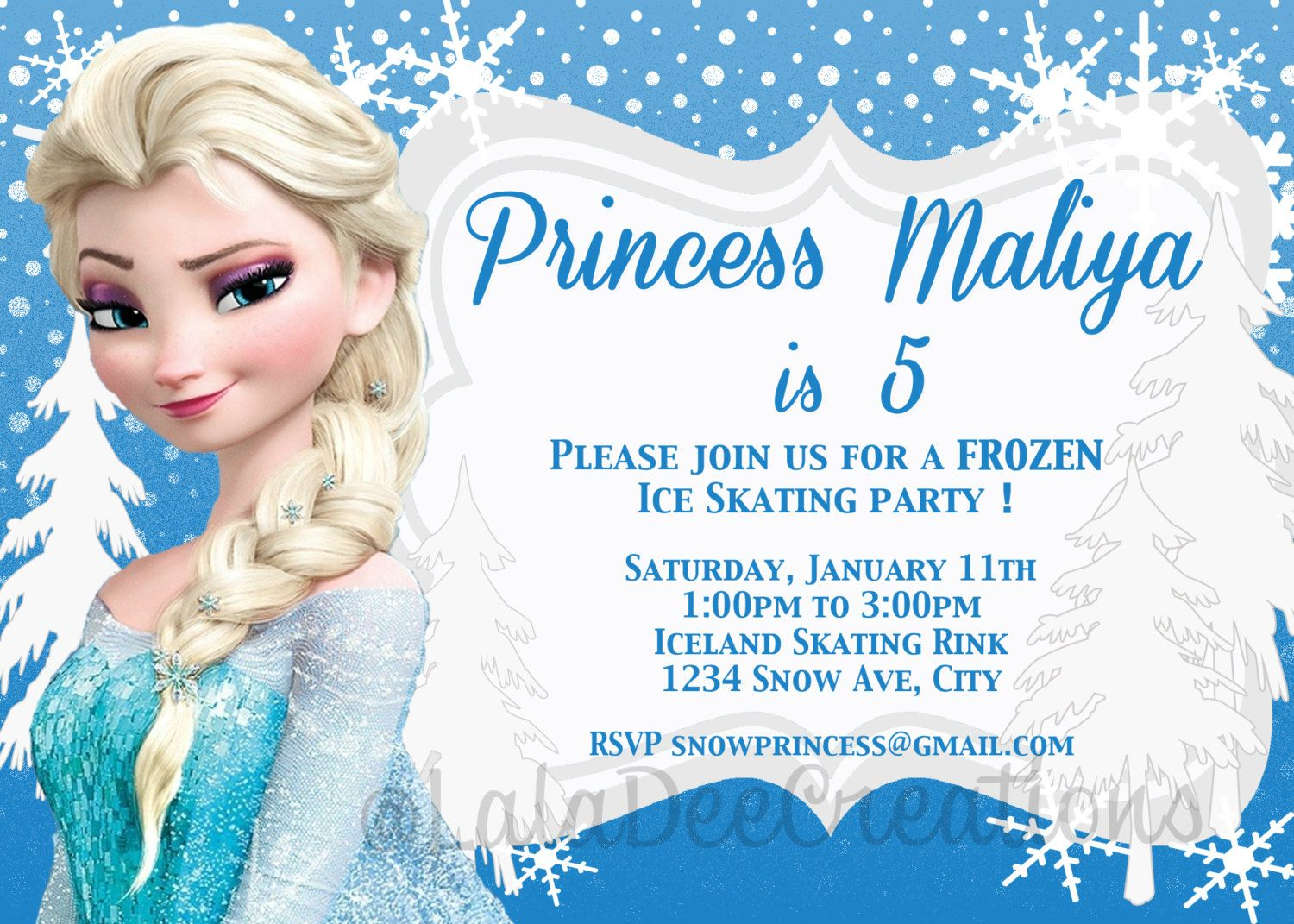 photo relating to Frozen Invitations Printable identified as Free of charge Frozen Editable Birthday Invites Absolutely free printable