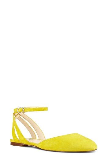 ecc7fbf802b Free shipping and returns on Nine West Begany Ankle Strap Flat (Women) at  Nordstrom.com. A slender ankle strap heightens the modern refinement of a  smooth ...