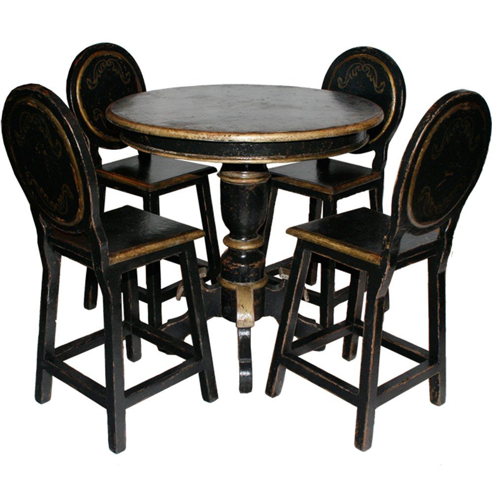 farmhouse style pub table and chairs