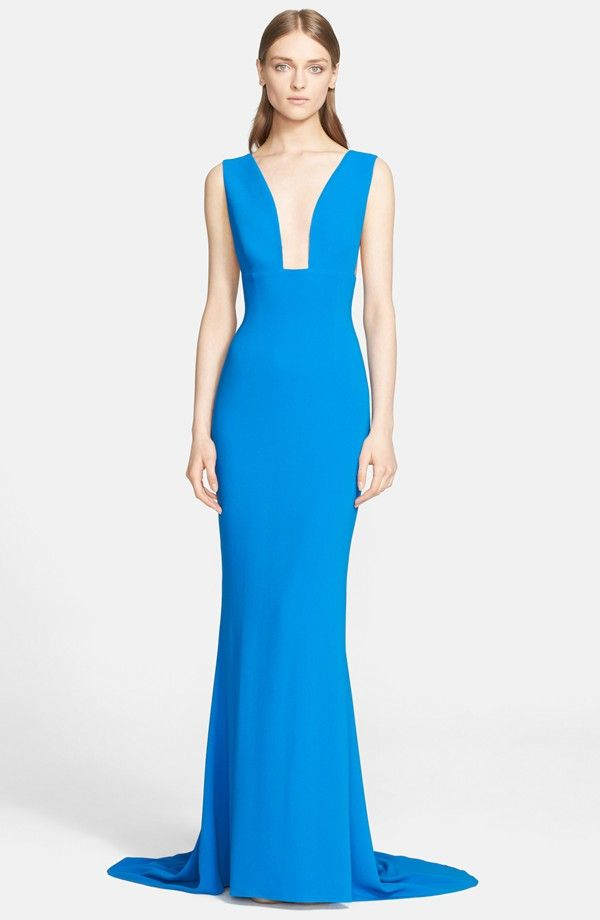 V-Neck Jersey Gown