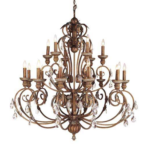 Image Detail For Iron And Crystal Crackled Bronze Chandelier