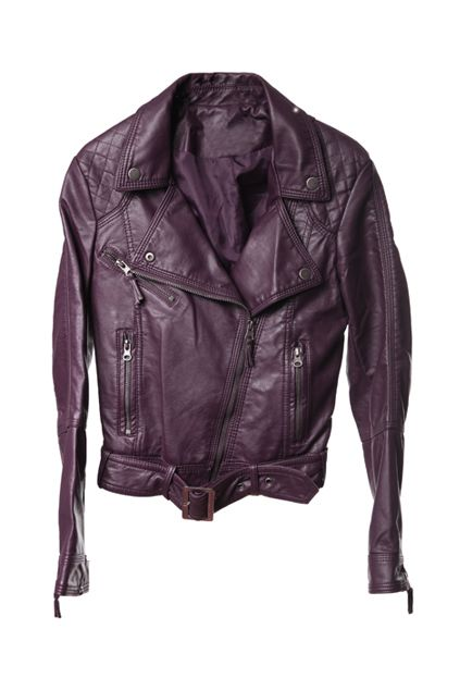 fd1ed26c7 Punk Large Lapel Dark-purple Leather Jacket | ☁ ROMWE ☁ | Purple ...