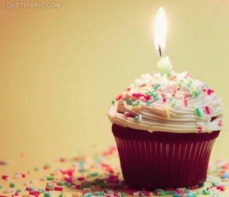 Happy Birthday Cupcake HD Cute Wallpaper